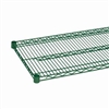 "18"" Green epoxy coated chrome wire shelf"