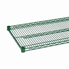 "24"" Green epoxy coated chrome wire shelf"