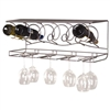 Wine Bar Wall Rack for bottles and glasses
