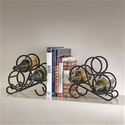 Scroll bookends for 6 bottles