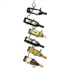 Climbing Tendril black wine rack to hold six bottles
