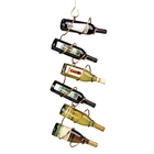 Climbing Tendril copper wine rack for easy storage