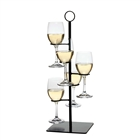 Amelia flight stemware server with five glass holders