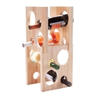 8 Bottle Wood Wine Rack