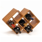 Bamboo wine rack for 8 wine bottles