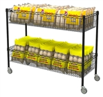 Double-Wide Basket Cart