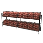Double-Wide Basket Shelving w/ S-Hook