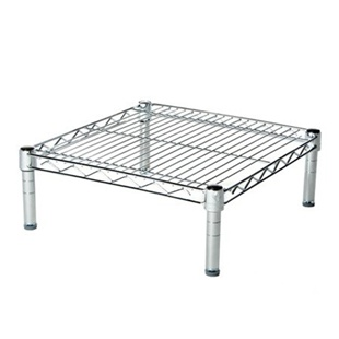 "18""d Chrome Wire Shelving Unit with 1 Shelf"