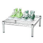 "24""d Chrome Wire Shelving Unit with 1 Shelf"