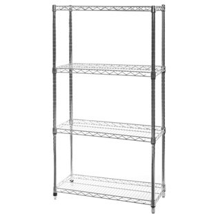 "14""d x 24""w Wire Shelving Unit with 4 Shelves"