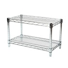 "14""d Chrome Wire Shelving Unit with 2 Shelves"
