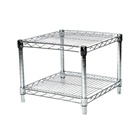 "24""d Chrome Wire Shelving Unit with 2 Shelves"