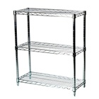 "14""d Chrome Wire Shelving Unit with 3 Shelves"