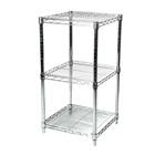 "24""d Chrome Wire Shelving Unit with 3 Shelves"