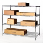 "30""d x 60""w Chrome Wire Shelving Racking with 4 Shelves"