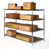 "30""d x 72""w wire shelving rack with 4 levels"