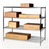 "36""d x 36""w Wire Shelving with 4 Shelves"