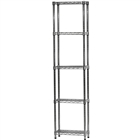 "8""d x 18""w Wire Shelving Unit with 5 Shelves"