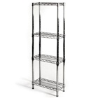 "8""d x 18""w Wire Shelving Unit with 4 Shelves"