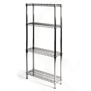 "8""d x 24""w Wire Shelving Unit with 4 Shelves"