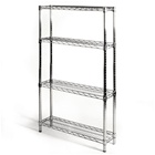 "8""d x 30""w Wire Shelving Unit with 4 Shelves"