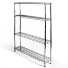 "8""d x 42""w Wire Shelving Units With 4 Shelves"