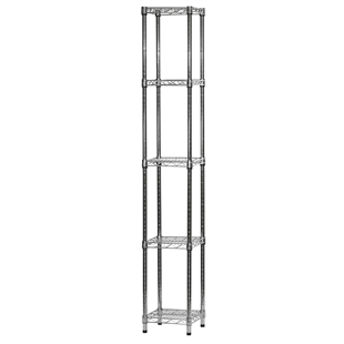 "12""d x 12""w Wire Shelving Unit with 5 Shelves"