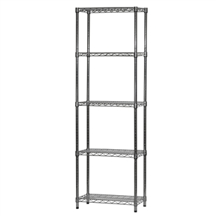 "12""d x 24""w Wire Shelving Unit with 5 Shelves"