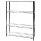 "12""d x 42""w Wire Shelving Unit with 4 Shelves"