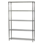 "12""d x 48""w Wire Shelving Unit with 5 Shelves"