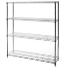 "12""d x 54""w Wire Shelving with 4 Shelves"