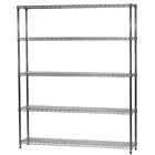 "12""d x 60""w Wire Shelving Unit with 5 Shelves"