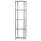 "14""d x 18""w Wire Shelving Unit with 5 Shelves"