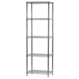 "14""d x 24""w Wire Shelving Unit with 5 Shelves"