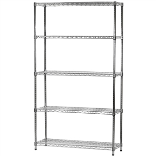 "14""d x 42""w Wire Shelving Unit with 5 Shelves"