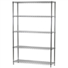 "14""d x 48""w Wire Shelving Unit with 5 Shelves"