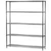 "14""d x 60""w Wire Shelving Unit with 5 Shelves"