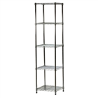 "18""d x 18""w Wire Shelving Unit with 5 Shelves"