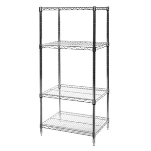 "18""d x 24""w Wire Shelving Unit with 4 Shelves"