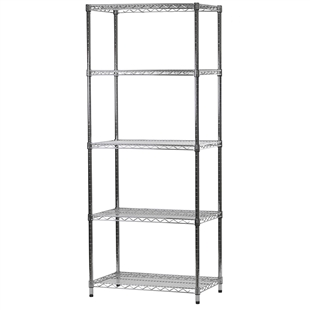 "18""d x 30""w Wire Shelving Unit with 5 Shelves"