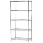 "18""d x 36""w Wire Shelving Unit with 5 Shelves"