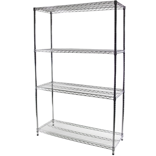 "18""d x 54""w Wire Shelving with 4 Shelves"