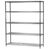 "18""d x 60""w Wire Shelving Unit with 5 Shelves"