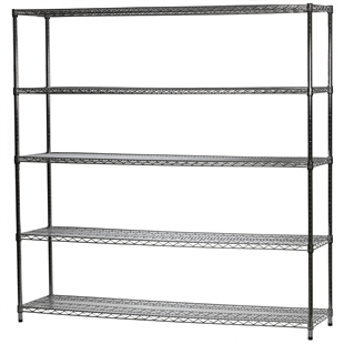 "18""d x 72""w Wire Shelving Unit with 5 Shelves"