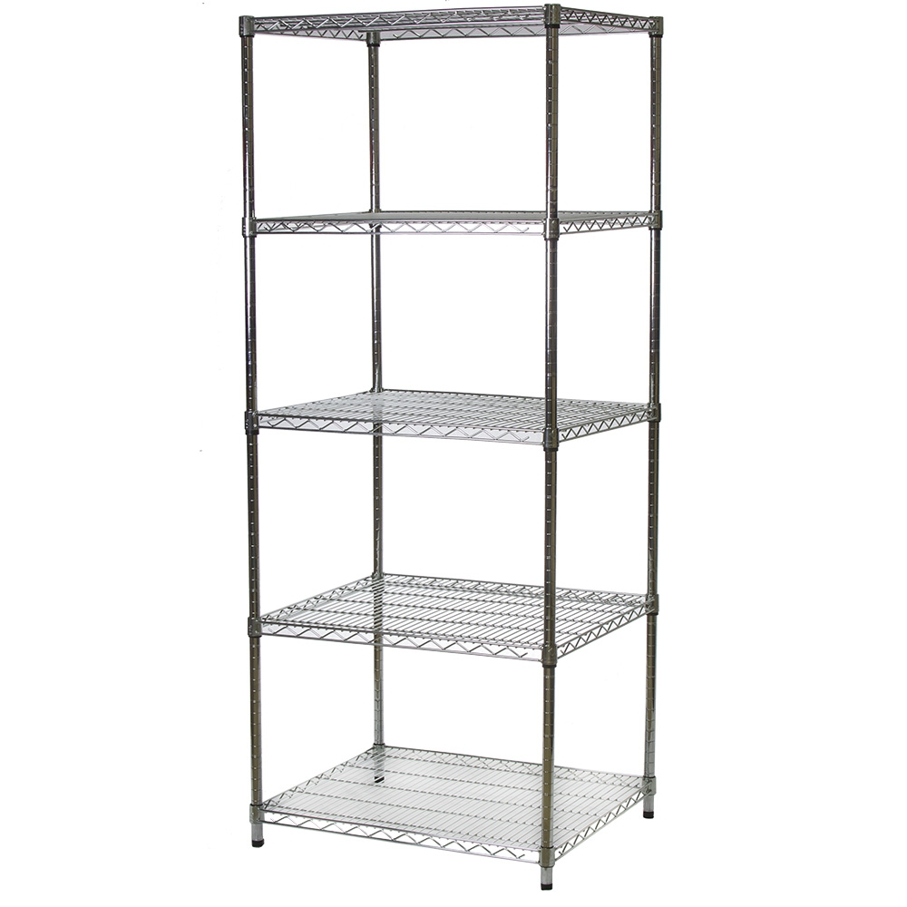 24 D X 30 W Wire Shelving With 5 Shelves The Shelving Store