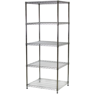 "24""d x 30""w Wire Shelving Unit with 5 Shelves"