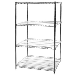 "24""d x 36""w Wire Shelving Racking with 4 levels"