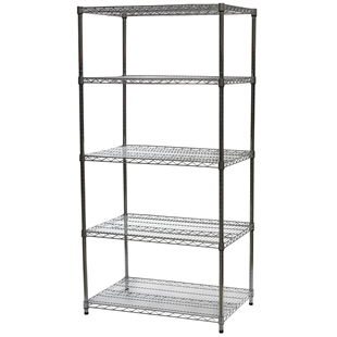 "24""d x 36""w Wire Shelving Unit with 5 Shelve"