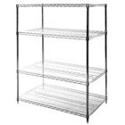 "24""d x 42""w Chrome Wire 4 tier shelving racks"
