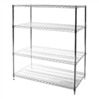"24""d x 54""w Wire Shelving with 4 Shelves"